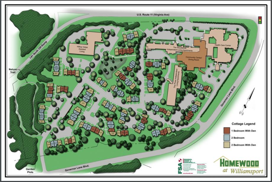 Map of Homewood Williamsport